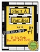 Word Wall Word Cards Short A Families