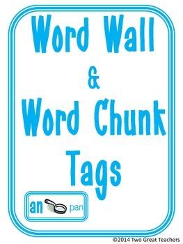 Word Wall & Word Chunk Tags