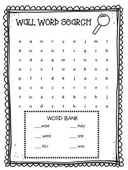 Word Wall Word Search