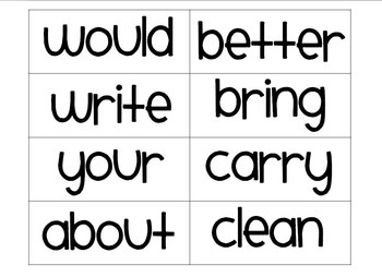 Word Wall Word Set