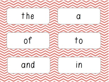 Word Wall/Word Work Cards Levels 1-13 {Sitton High Frequency Words}
