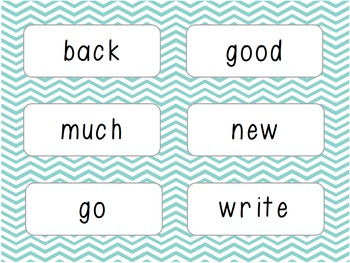 Word Wall/Word Work Cards Levels 10-13 {Sitton High Frequency Words}
