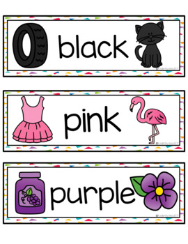Word Wall Word Work - Colors