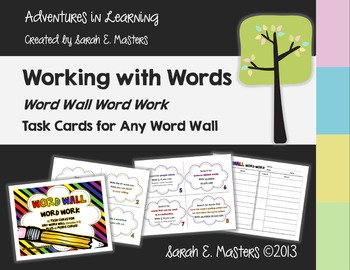 Word Wall Word Work Task Cards