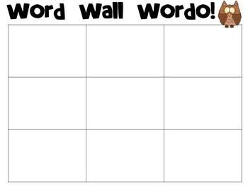 Word Wall Wordo Boards - FREEBIE!