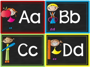 Chalkboard Word Wall Letters and Words