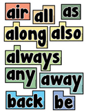 Word Wall Words (1st Grade Sight Words)