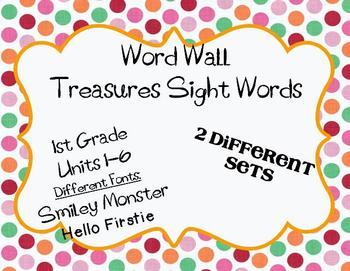 Word Wall Words 1st Grade Treasures Sight Words