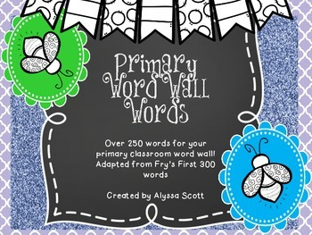 Word Wall Words