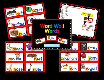 Word Wall Words - RED