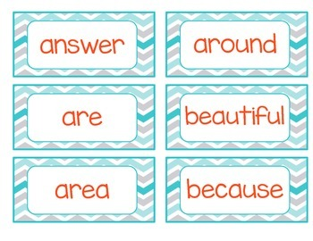 Word Wall Words - 2nd Grade