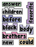 Word Wall Words (2nd Grade Sight Words)