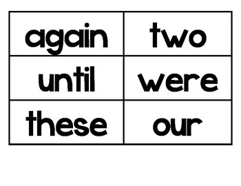 Word Wall Words 2nd grade
