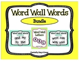 Word Wall Words BUNDLE with Pink and Lime Green Letters (K and Grade 1)