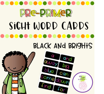Word Wall Words - Black and Brights