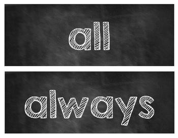 Word Wall Words [Chalkboard Style]