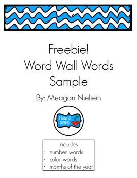 Word Wall Words-Chevron SAMPLE