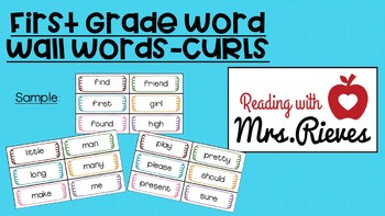 Word Wall Words-Curls