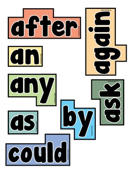 Word Wall Words (Dolch First Grade Words)