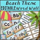 Word Wall Words EDITABLE Beach Theme Classroom Decor