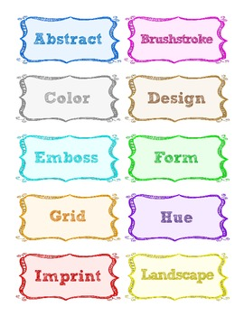 Word Wall Words--Editable Template--Art--General