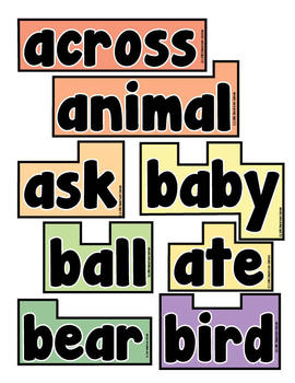 Word Wall Words (Extra Words)