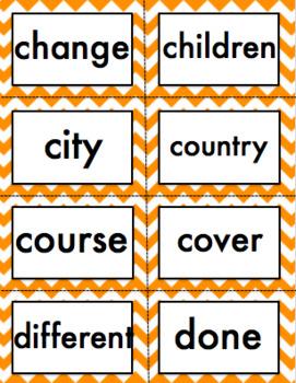 Fry Words Fourth Grade Chevron Theme List 1