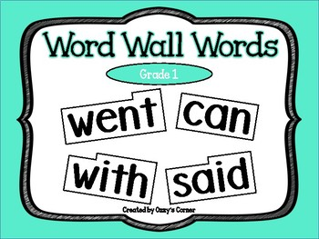 Word Wall Words - Grade 1