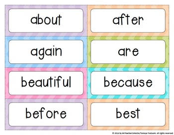Word Wall Words (Grade 2) Complete Package [Headings & Word Cards] - Editable