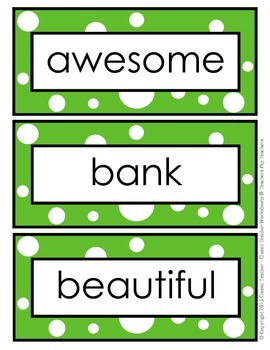 Word Wall Word Cards and Alphabet Cards - Grade 5 (5th Grade)