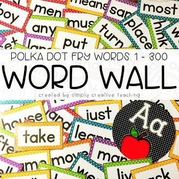 Word Wall Words & Headers Editable