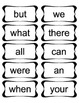 Word Wall Words & Headers for 2nd Grade