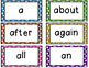 Word Wall Words - High Frequency Words- EDITABLE!!