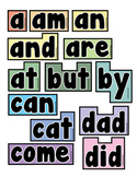 Word Wall Words (Kindergarten Sight Words)