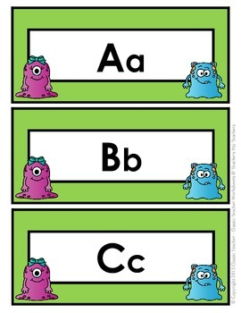 Word Wall Words - Kindergarten - Word Wall Word Cards and Alphabet Cards
