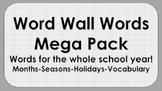 Word Wall Words Mega Pack
