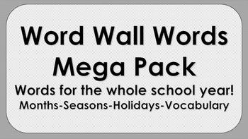 Word Wall Words Mega Pack