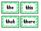 Word Wall Words (Mint Chevron)