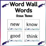 Word Wall Words Ocean Theme
