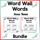 Word Wall Words Ocean Theme Bundle