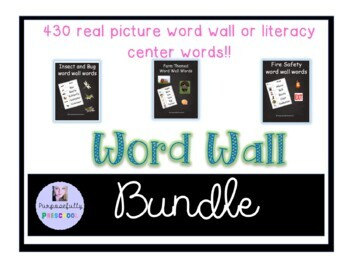 Vocabulary and/or Word Wall Words Mega Pack