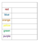 Word Wall Words Rainbow Write Template