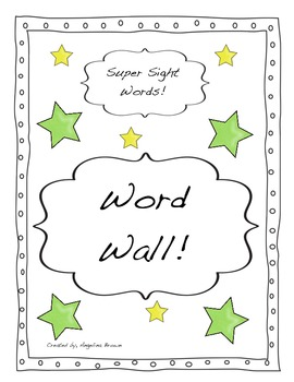 Word Wall Words -Red Vowels!