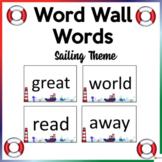 Word Wall Words Sailing Theme
