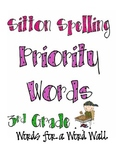 Word Wall Words: Sitton Spelling Priority Words for Third Grade (FREE)