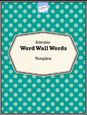 Word Wall Template Editable