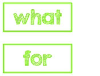 {Word Wall Words} Treasures 1st Grade Sight Words