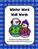 Word Wall Words ~ WINTER EDITION