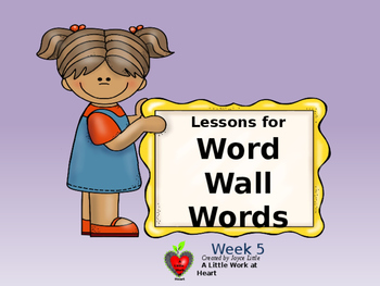 Word Wall Words Week 3