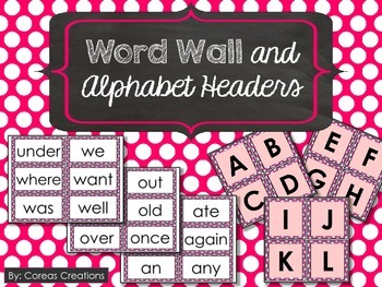 Word Wall Words and Alphabet Headers {FREE}